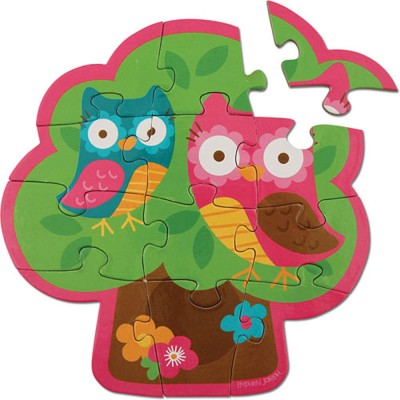 Stephen Joseph Inc Play And Color Puzzle - Owl
