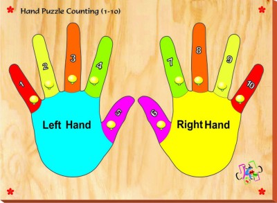 Kinder Creative Hand Puzzle Counting