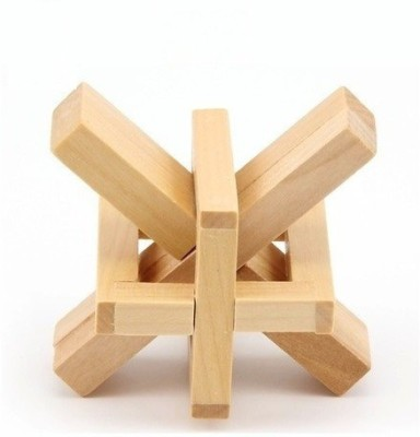 GeekGoodies Wooden Star Puzzle