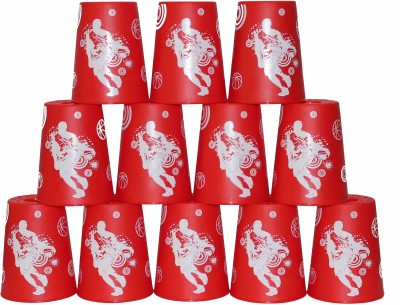 YJ Stacking Cups with Bag - Red