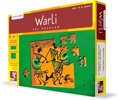 TOY KRAFT Warli Art Puzzle - 3 in 1