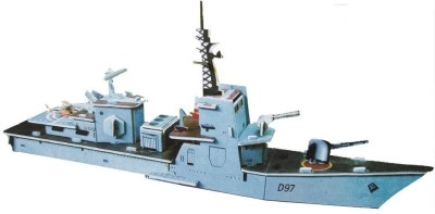 Lionsland Fighter Army Ship 3D Puzzle