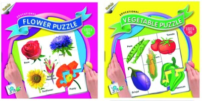 Ratnas Pack Of 2 -Educational Flower &Vegetable Puzzle