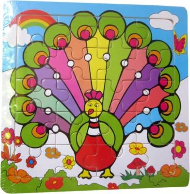 DCS DCS Multicolour Peacock Puzzle (7 X 7)IN