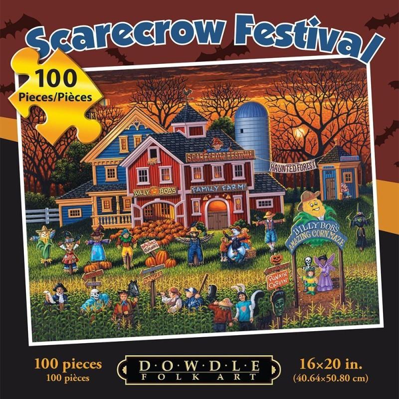 Dowdle Folk Art Jigsaw Puzzle - Scarecrow Festival Dowdle Folk(1 Pieces)
