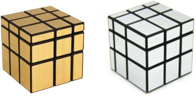 ShopperBay Silver and Gold Mirror Cube Combo