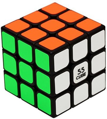 55Cube Anti Pop Speed Cube, Quicker, Easier & More Precisely Than Original Speed Cube, Super Durable, Vivid Color 3X3 Puzzle Cube, 3 Layer Speed Cube 2.2 Black, 100% Money Back Guarantee(1 Pieces)