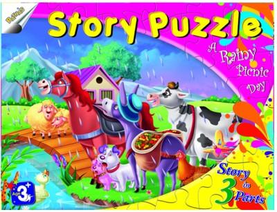 Ratnas Story Puzzle - A Rainy Picnic Day
