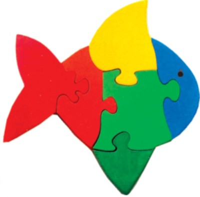 Learner's Play Fish Jigsaw Puzzle - Colored