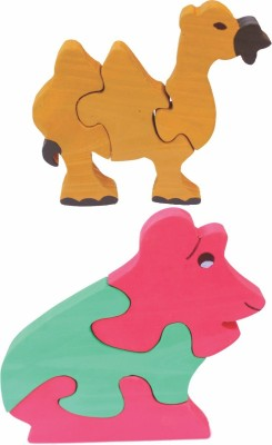 Enigmatic Woodworks Wooden Jigsaw Puzzle Camel + Frog