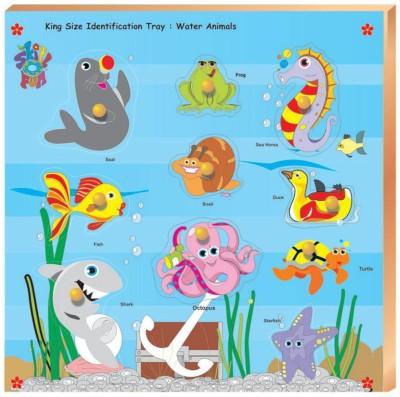 Skillofun Skillofun King Size Identification Tray - Water Animals