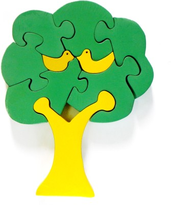 wood o plast Tree Jigsaw Puzzle Set - Yellow