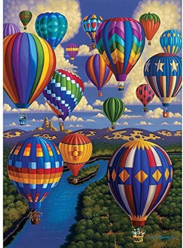 Dowdle Folk Art Puzzle - Hot Air Balloon Festival 1000 Pc