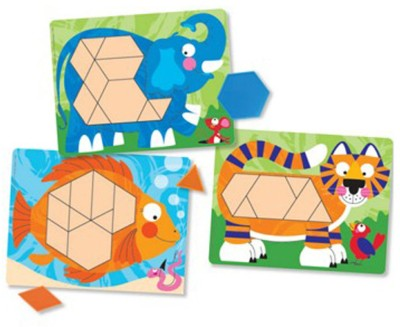 Melissa & Doug Animal Pattern Blocks Set