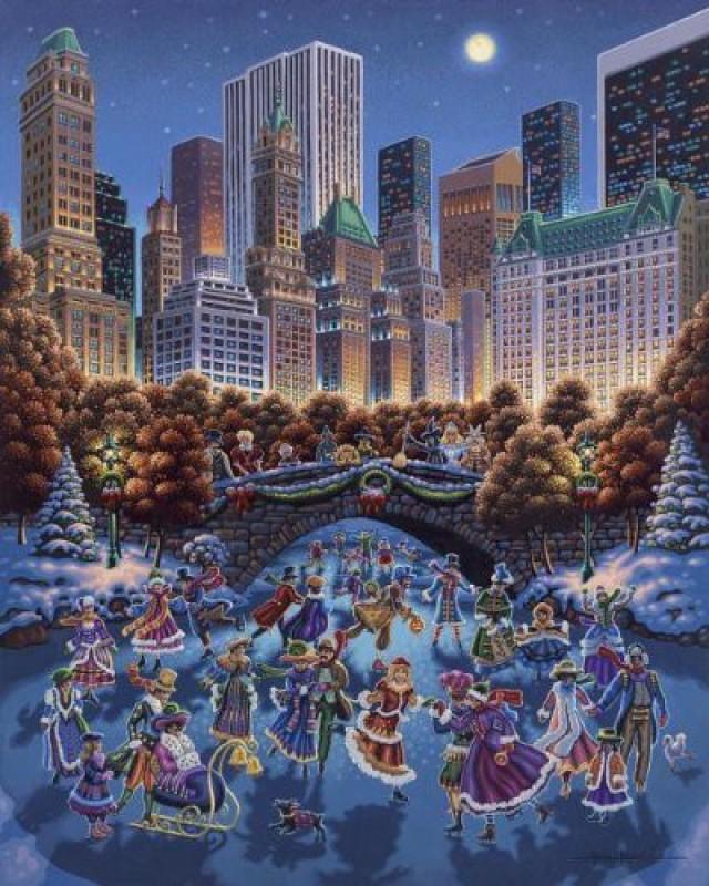 Dowdle Folk Art Puzzle - Central Park