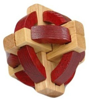 GeekGoodies Red Wooden Puzzle