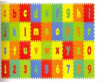 Kiddy 10Pcs Numbers (0-9) & 26Pcs Alphabet (A-Z) Puzzle Mat PMS-9009