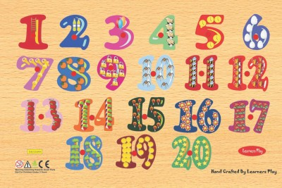 Learner's Play Counting Puzzle 1 - 20 Size