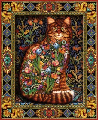White Mountain Puzzles Tapestry Cat