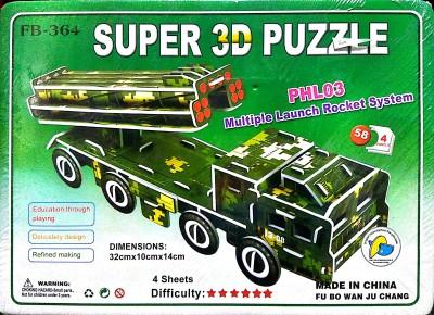 UniqueToys Super 3D Puzzle Rocket Launcher