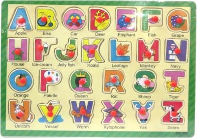 DCS Wooden Puzzles Board [Alphabets.](24 Pieces)