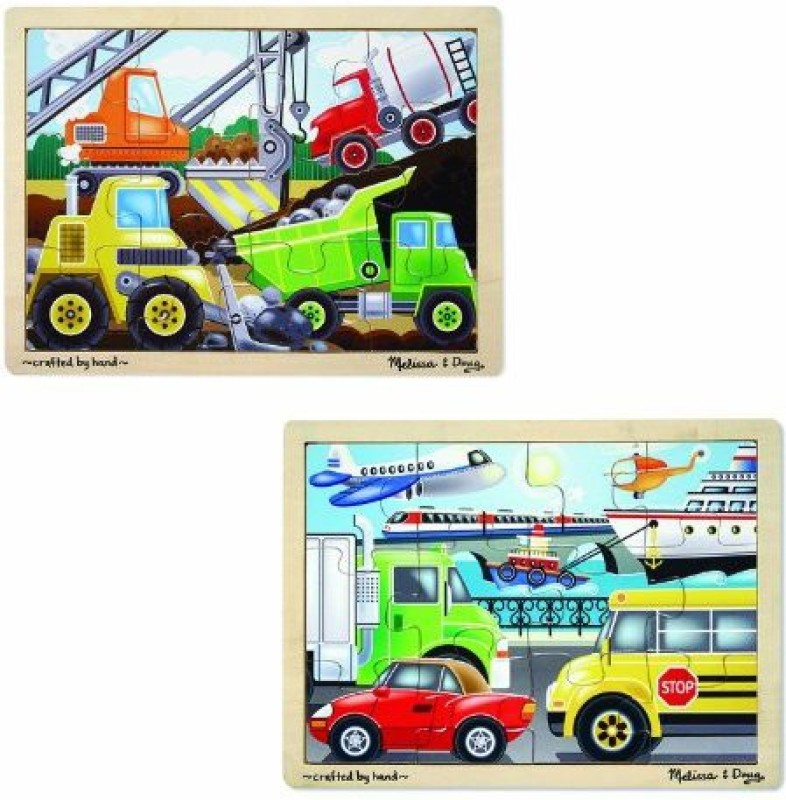 Melissa & Doug Vehicles & Construction(12 Pieces)