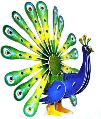 Edu Expert Junior Puzzles - 3D Paper - Peacock Xy507