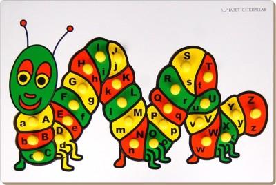 TOMAFO Alphabet Caterpillar Tray with Big Knob