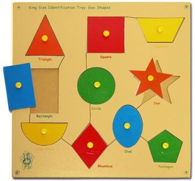 Skillofun Skillofun Large ,Shapes, Shape Tray - Triangle