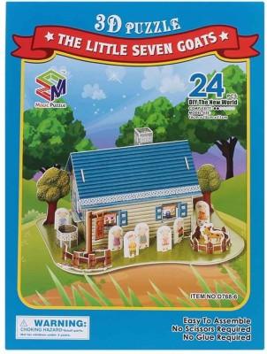 Magic Puzzle The Little 7 Goats 3D Puzzle