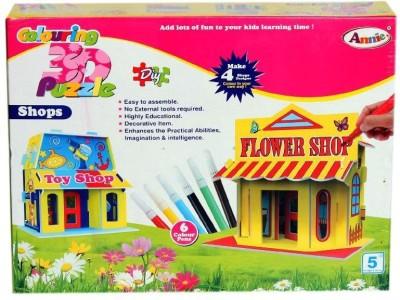 Annie Colouring 3D Puzzle - Shops