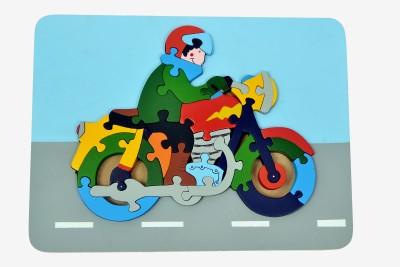 wood o plast Motorcycle Raised Puzzle Tray