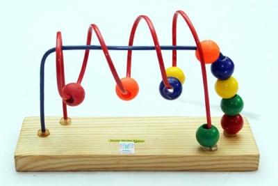 Luk Luck Educational Wooden Toy Beads Shuttle 2 Loop