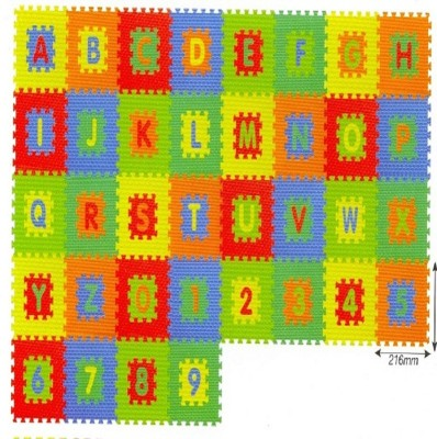 Kiddy 10Pcs Numbers (0-9) & 26Pcs Alphabet (A-Z) Puzzle Mat 2 In 1 PMS-9006