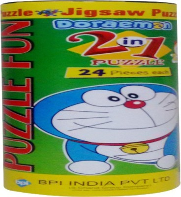 BPI Doraemon Cylender puzzle fun 2 in 1---