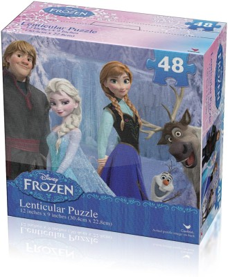 Disney Disney Frozen Lenticular Puzzle (48-Piece) Styles Will Vary