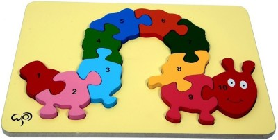 wood o plast Caterpillar Raised Puzzle With 1-10 Numbers