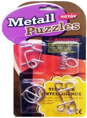Stuff Jam 4 Piece Intellectual Metallic Puzzle for all age groups