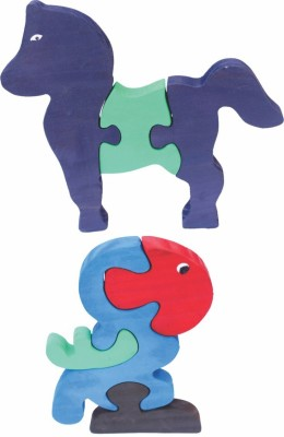 Enigmatic Woodworks Wooden Jigsaw Puzzle Horse + Parrot