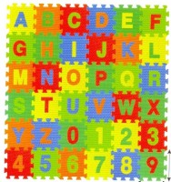 Kiddy 26Pcs Alphabet (A-Z) & 10Pcs Numbers (0-9) Puzzle Mat PMS-9011(36 Pieces)