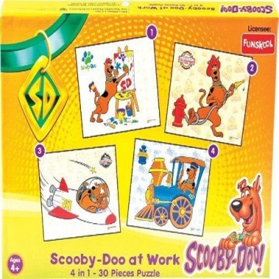 Funskool SCOOBY DOO COOL MOVE 4IN1 30 PIECES PUZZLE -