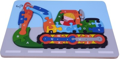 wood o plast Digger Raised Puzzle With A-Z Alphabet