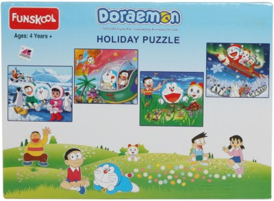 Funskool Doraemon 4 in 1 Puzzles (Holiday Puzzle)