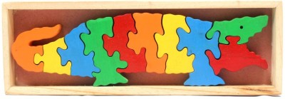 Luk Luck Educational Wooden Toy Crocodile Puzzle