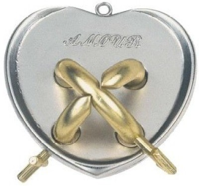 GeekGoodies Heart Cast Metal Puzzle