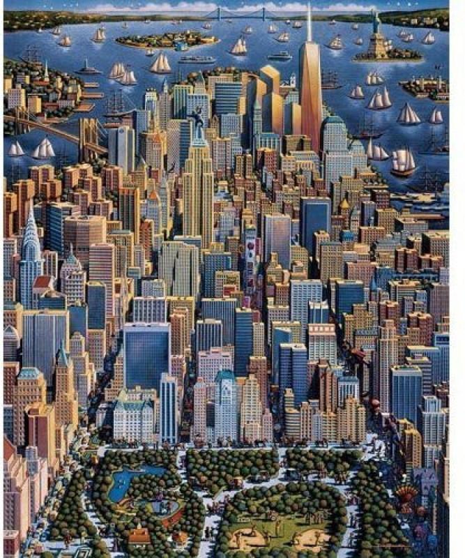 Dowdle Folk Art Puzzle - New York City 1000 Pc