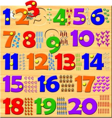 Prasima Toys Square Number Puzzle