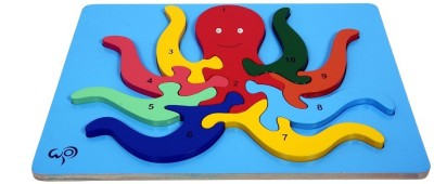wood o plast Octopus Raised Puzzle With 1-10 Numbers