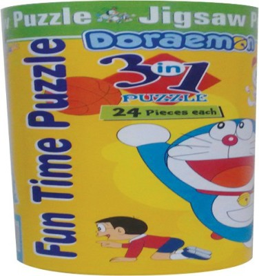 BPI Doraemon Cylender puzzle fun time 3 in 1---