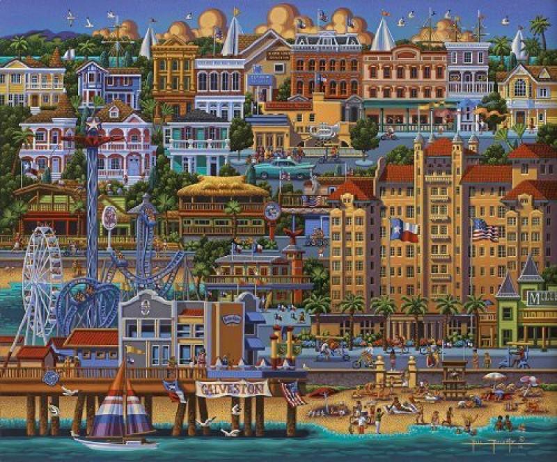Dowdle Folk Art Puzzle - Galveston 500 Pc